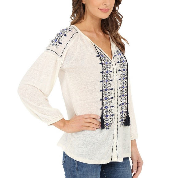 52099c31352866 LUCKY BRAND Embroidered Linen Peasant Top Tunic 1X. NWT. Lucky Brand.  M_5b5b2648fe5151e2f66306be. M_5b5b26484ab633c9202ab752.  M_5b5b2648df0307326770b543